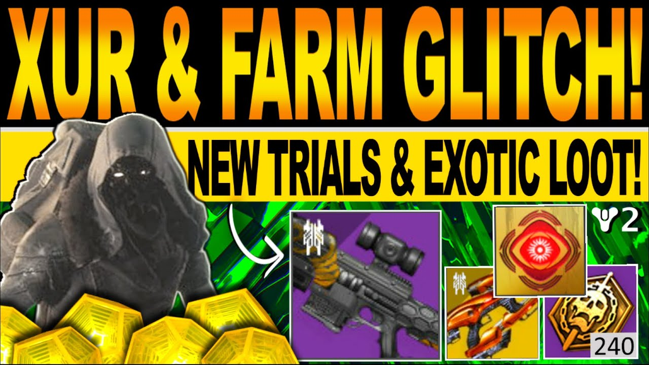 Destiny 2 | XUR GLITCH SALE! New TRIALS Map & EXOTIC Loot, STAT ROLLS, Location & Inventory, JUNE 11