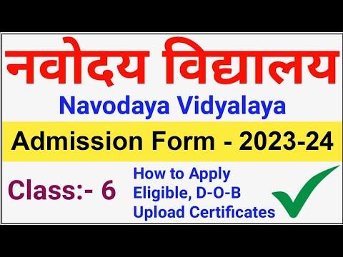 navodaya vidyalaya admission form 2019-20 for class 6th