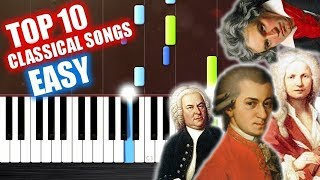 Download TOP 10 Classical Songs - EASY Piano Tutorials by PlutaX Mp3 and Videos