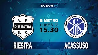 Deportivo Riestra vs Acassuso full match