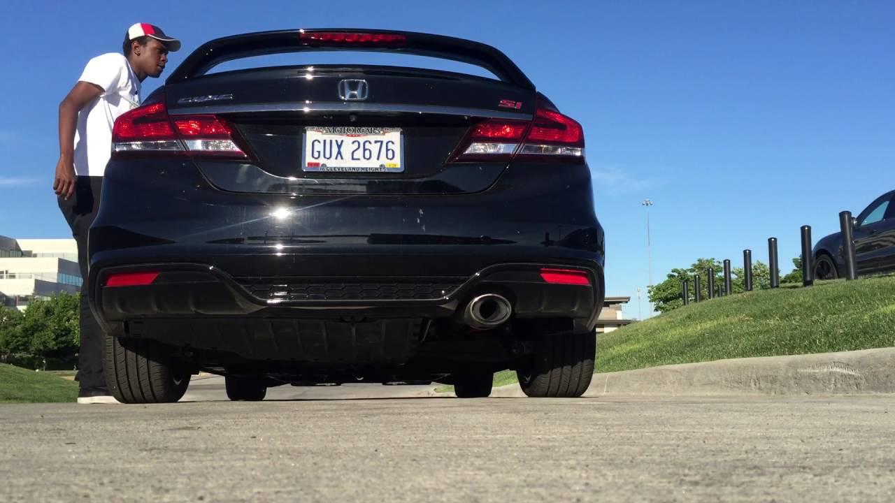 2015 Honda Civic Si Straight pipe exhaust - YouTube