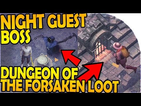 NIGHT GUEST BOSS + DUNGEON of the FORSAKEN LOOT, RAVENS, TRADER - Grim Soul Dark Fantasy Survival