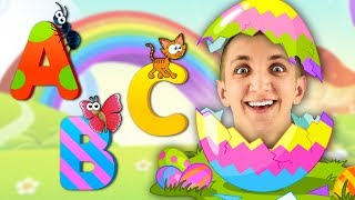 ABC Alphabet Phonics Song | Learn Animals with Surprise Easter Eggs - Super Simple Nursery Rhymes.
