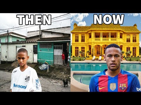 10 Footballers Houses - Then and Now - Ronaldo, Neymar, Messi, ...etc