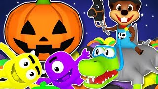 🎃 Halloween Songs For Kids | Nursery Rhymes and 3D Baby Songs | Five Little Monsters & ABC Song