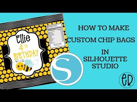 HOW TO MAKE A CUSTOM CHIP BAG PRINTABLE TEMPLATE IN SILHOUETTE STUDIO