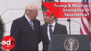 From youtube.com: Donald Trump & Emmanuel Macron: bromance or fauxmance? {MID-285603}