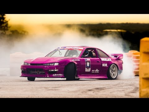 Lone Star Drift Round 6 - drifting under an 18 wheeler