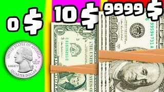 IS THIS THE MOST EXPENSIVE DOLLAR BILL EVOLUTION? (9999+ BILLION MONEY LEVEL) l Make It Rain
