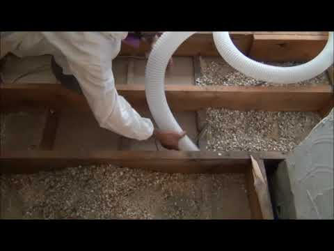 Attic Vac Vermiculite Removal System by Ruwac (In Action) | http://www.ruwac.com