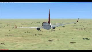 FSX - Emergency Landing - Boeing 737-800 - Dubai To Cape Town ( Africa Landing ) Pacifica Airlines
