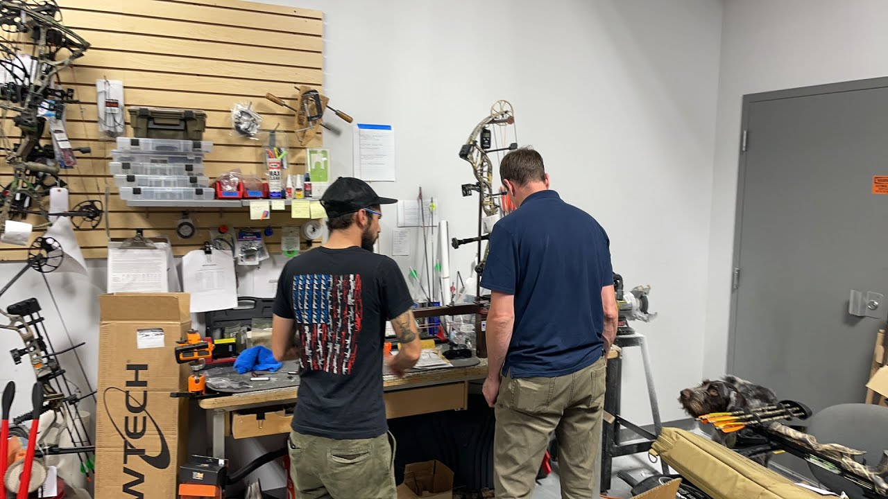 In the workshop with Toby and Tim