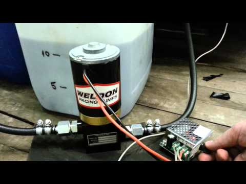 Weldon D2025A fuel pump and PWM controller test  - YouTube