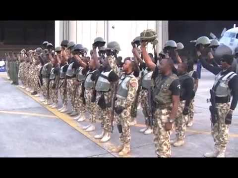 Nigerian Troops Return From The Gambia