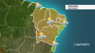 Previsão Nordeste – Litoral com chuva rápida