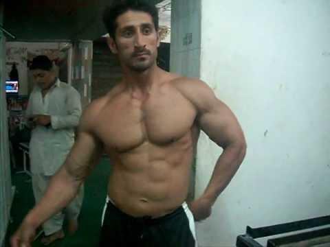 Syed Muhammad posing in Azeem gym