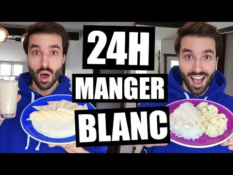 JE MANGE QUE LA NOURRITURE BLANCHE PENDANT 24H - FT HUBY   CARL IS COOKING