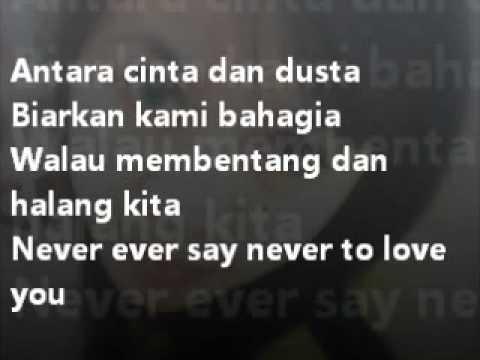 Antara Cinta Dan Dusta   Evan s ft Chelsea (with lyrick)