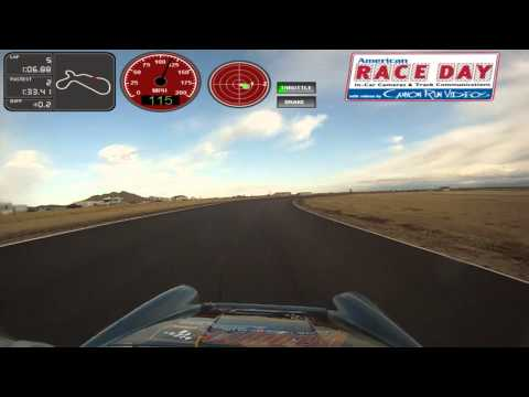 Bruce Wells racing his Porsche 911 Carrera at the POC Cup Race at Willow Springs on 2/11/2012