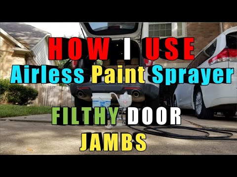 How I Clean filthy door jambs with Airless Paint Sprayer and Rinseless Wash