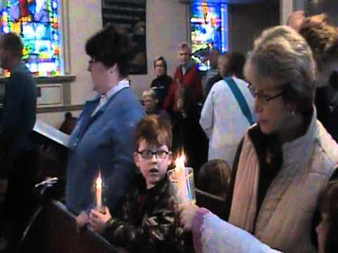 Parish of New Germany in Nova Scotia singing Silent Night