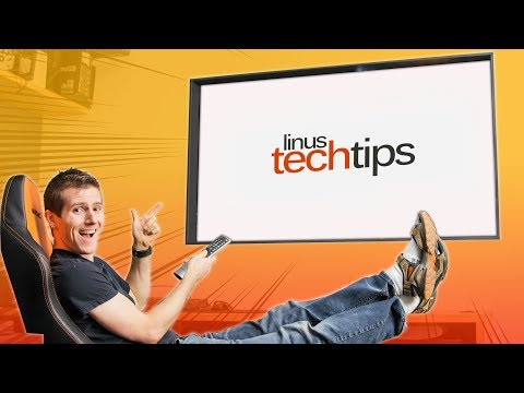 LG Wallpaper TV Window Project COMPLETE – Linus Office Tour