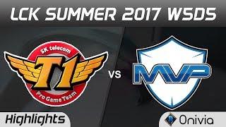 SKT vs MVP Highlights Game 1 LCK SUMMER 2017 SK Telecom T1 vs MVP By Onivia