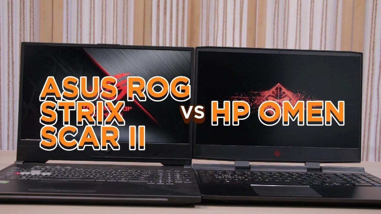 Asus ROG Strix Scar II (RM8400) vs HP Omen (RM7000) - Gaming laptop manakah paling best untuk beli?