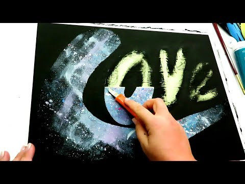 EASY ABSTRACT PAINTING ART PAINTING In Acrylics | LOVE