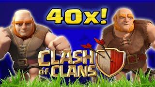 Clash of Clans - Ataquei com 40 Gigantes! Full Gigantes