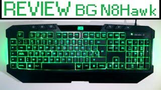 unboxing y review teclado bg n8hawk teclado gaming