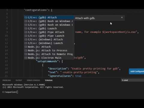 debugging c++ with gdb in visual studio code