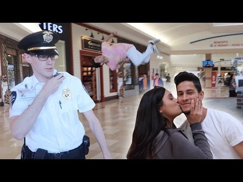 FLIPS FOR A KISS AT THE MALL (SECURITY KICKED US OUT FOR NO REASON!)