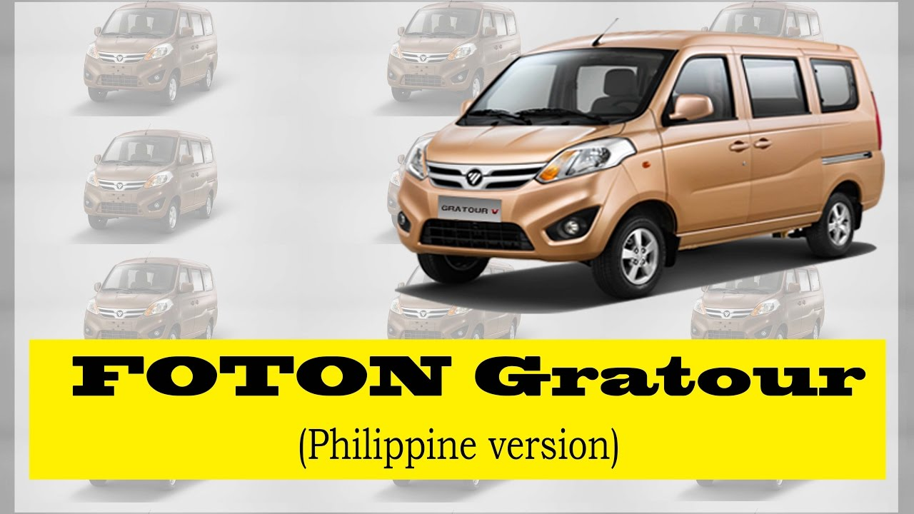 Foton Gratour An Affordable Vehicle For Middle Class Family Youtube