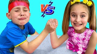 Sasha and Dima Staged Funny Bigger Competition for Kids with Mystery Boxes