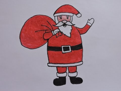 How To Draw Santa Claus Easy Way Youtube