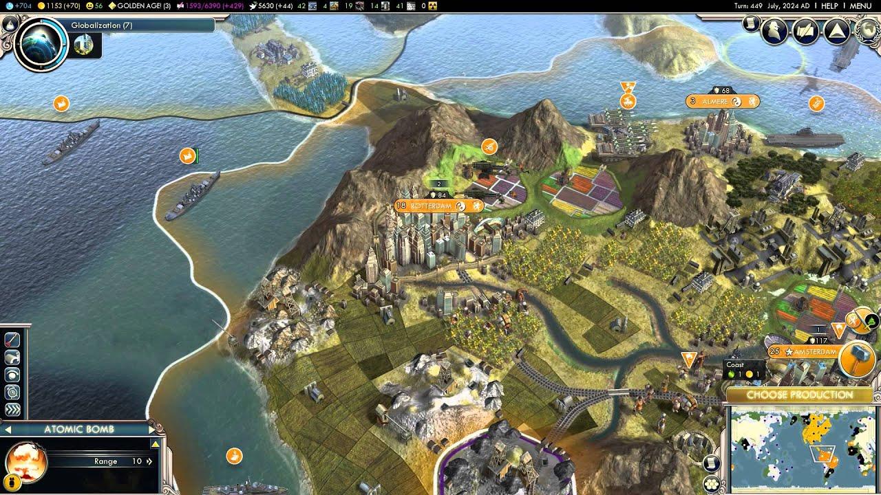 civilization v late game funny nuclear attacks youtube rh youtube com Sid Meier's Civilization V Civilization Series