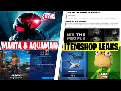 NEW BLACK MANTA Skin & Aquaman Itemshop Release Dates Leak! BLM Fortnite Event, Encrypted Cosmetics!