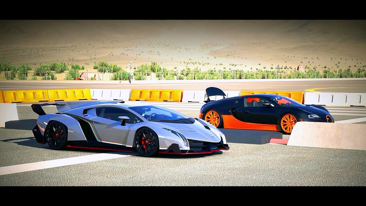 Fastest Car In The World Wallpaper 2015 Forza 5 Drag Race Lamborghini Veneno Vs Bugatti Veyron