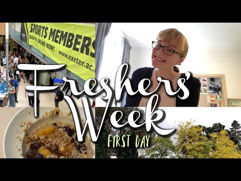 First Day of FRESHERS' WEEK || University of Exeter
