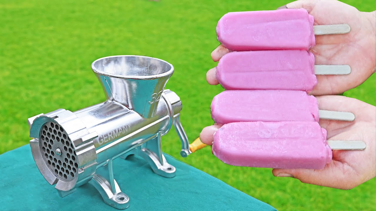 EXPERIMENT ICE CREAM VS MEAT GRINDER