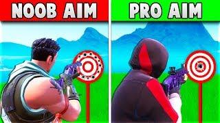 NOOB AIM VS PRO AIM!! (DANSK FORTNITE)