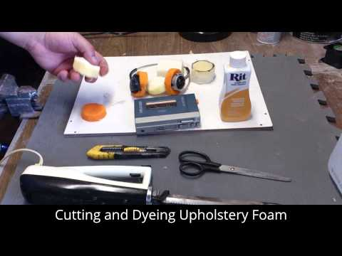 Cutting and Dyeing Upholstery Foam