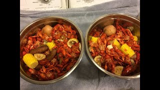 MUDBUGGIN 2017. Crayfish/Crawfish Boil. Just boiling up the catch.