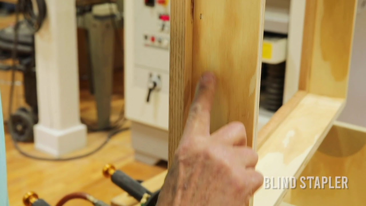 How To Attach An Inset Mirror To Cabinet using BLINDSTAPLER™