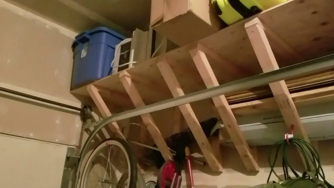 DIY Garage Shelving: Heavy Duty Shelves Above Garage Door