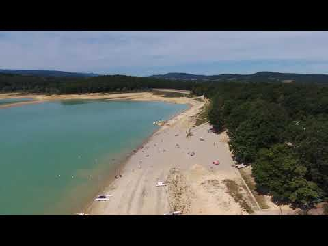 Base nautique Montbel by drone