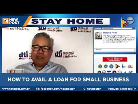 Dti Sec Mon Lopez Explains How To Avail Loan For Small Youtube