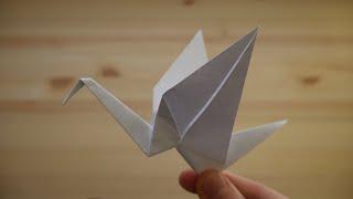 Оригами. Как сделать журавля из бумаги (видео урок)