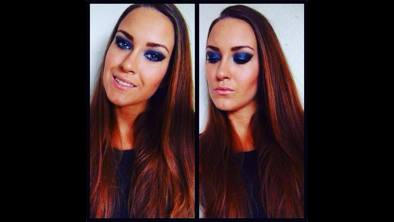 dramatic smokey blue eye makeup tutorial youtube